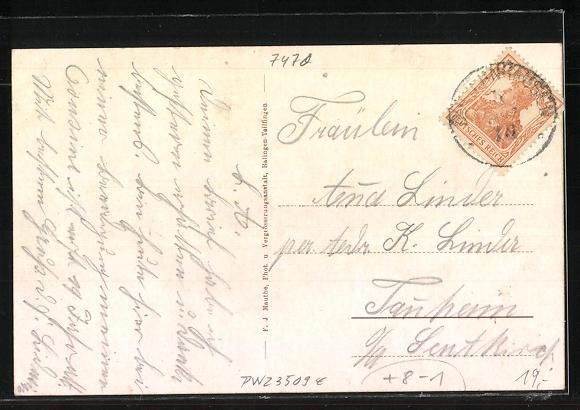 AK Lautlingen, Wirtschaft u. Brauerei Krone, Totalansicht, Neue Kirche 1