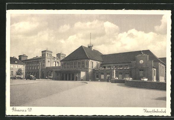 AK Rheine i.W., Partie am Bahnhof 0