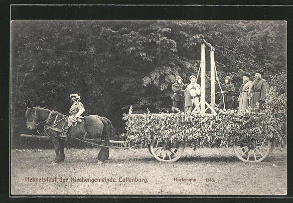 AK Catlenburg, Heimatfest der Kirchengemeinde, Festwagen