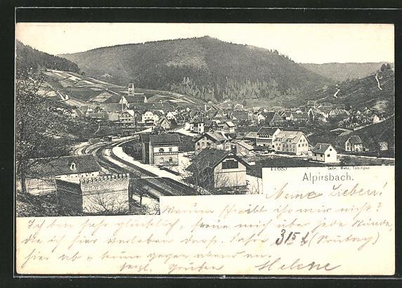 AK Alpirsbach, Ortspartie am Eiskeller der Klosterbrauerei 0