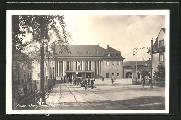 AK Neunkirchen /Saar, Blick zum Bahnhof 0
