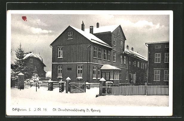 AK St. Andreasberg, Ski-Hütte des Infanterie-Regiments 13 0
