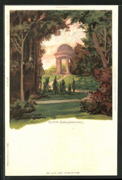 Künstler-AK Carl Biese: Eutin, Partie im Schlosspark 0