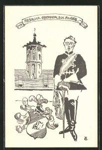 AK Augsburg, Absolvia der Oberrealschule, Wappen