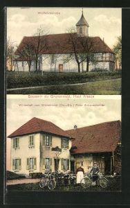 AK Grunenwald, Wallfahrtskirche und Gasthaus zum Grünenwald
