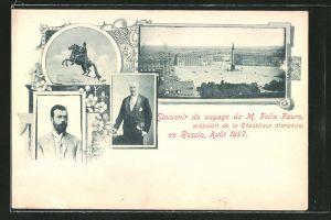 AK Felix Faure auf Besuch in Russland 1897, Zar Nikolaus