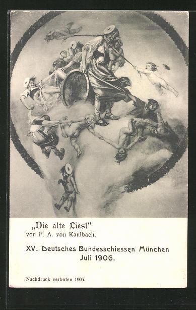 AK München, XV. Deutsches Bundesschiessen 1906,