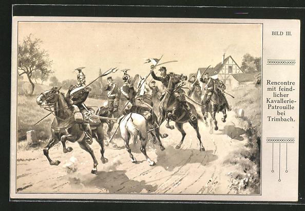 AK Reichseinigungskriege, Rencontre mit feindlicher Kavallerie-Patrouille bei Trimbach