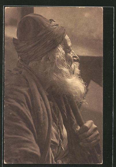 AK Alter jüdischer Mann im Profil