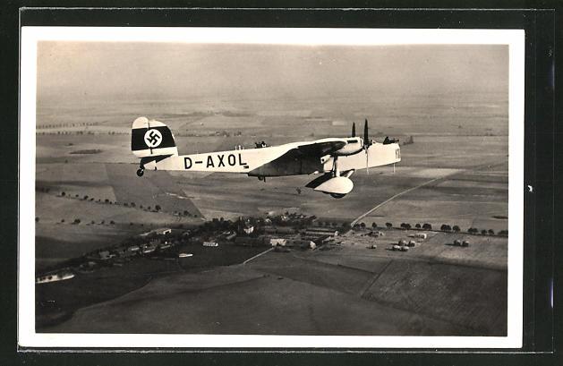 AK Flugzeug D-AXOL in der Luft