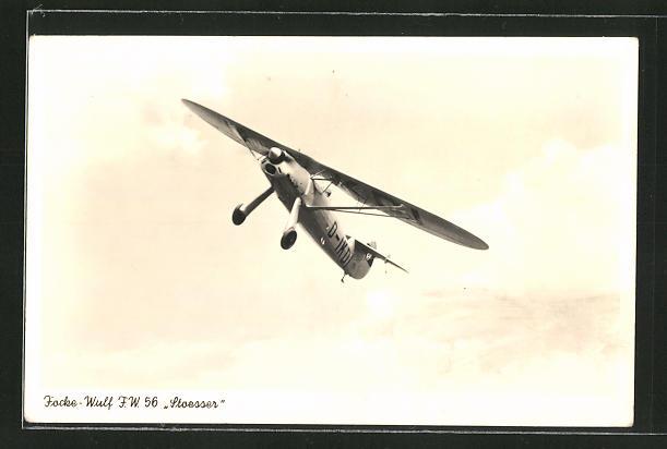 AK Flugzeug Focke-Wulf F.W. 56