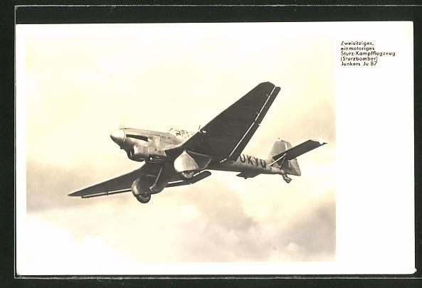 AK Flugzeug, Sturzbomber Junkers Ju 87