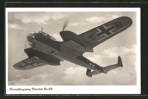 AK Kampflugzeug Dornier Do 215 im Flug
