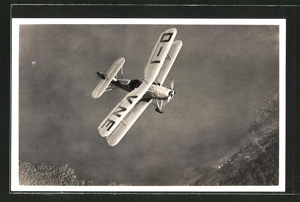 AK Flugzeug in der Luft