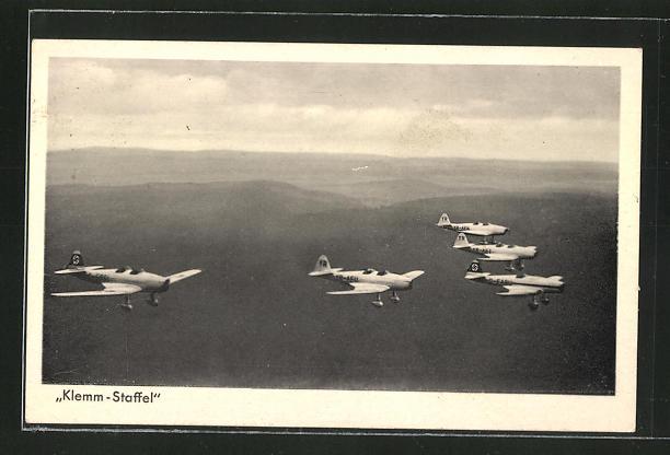 AK Sportflugzeug Klemm Kl 35, Klemm-Staffel in der luft