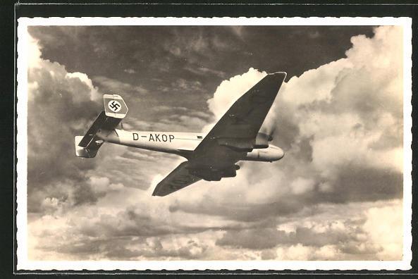AK Schnellverkehrsflugzeug Junkers Ju 86