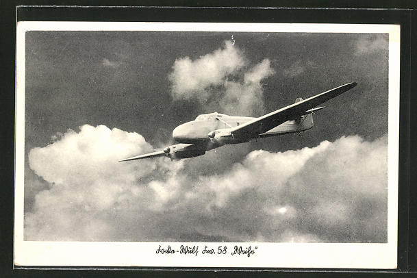 AK Focke-Wulf Kampfflugzeug Fw 58