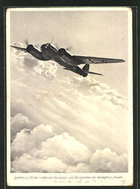AK Junkers Ju 88 Horizontal- und Sturzbomber der deutschen Luftwaffe
