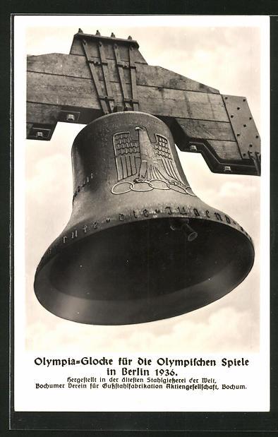 AK Berlin, Olympischen Spiele 1936, Olympia-Glocke