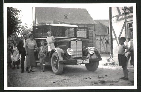 Fotografie Bus der Reichspost, Omnibus mit Kfz-Kennzeichen RP-27257