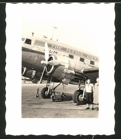 Fotografie Flugzeug Douglas DC-3 der KLM Fluggesellschaft