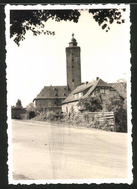 Fotografie Fotograf unbekannt, Ansicht Steinau an der Strasse, Blick zur Burg