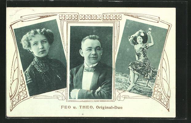 AK Feo und Theo, Original-Duo, Varietée-Künstler