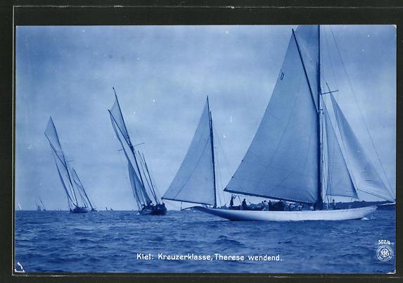 AK Kiel, Boote der Kreuzerklasse, Therese wendend, Segelsport
