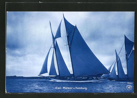 AK Kiel, Segelboote Meteor und Hamburg, Segelsport