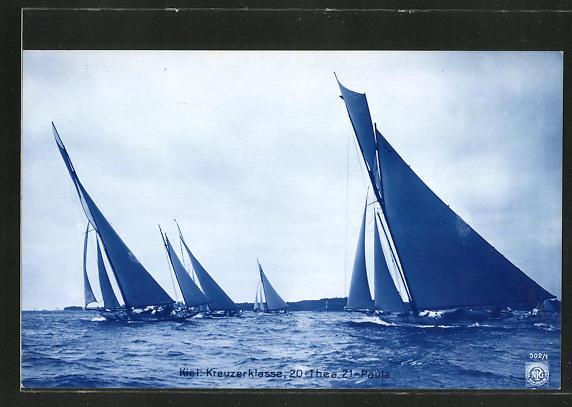 AK Kiel, Boote der Kreuzerklasse, 20= Thea, 21= Paula, Segelsport