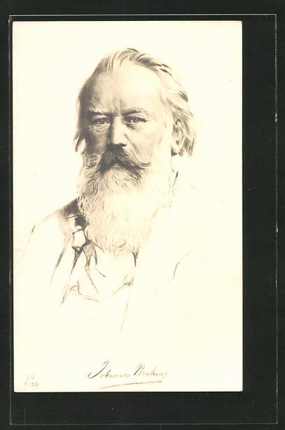Künstler-AK Komponist Johannes Brahms