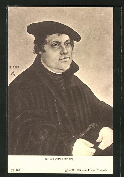 Künstler-AK Dr. Martin Luther, gemalt von Lucas Cranach