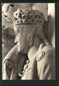 Foto-AK Deutscher Kunstverlag, Nr. 21a, Walter Hege: Naumburg, Figur der