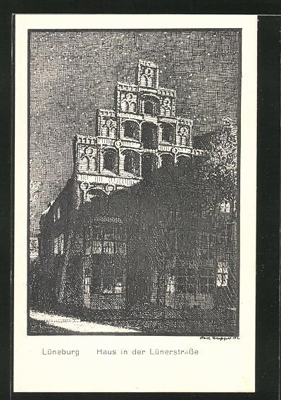 Künstler-AK K. Blossfeld: Lüneburg, Haus in der Lünerstrasse