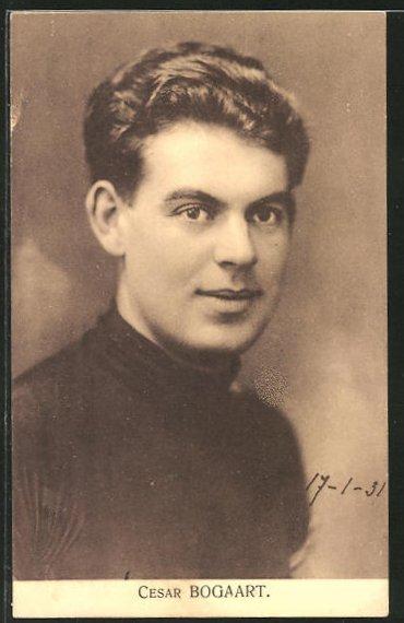 AK Radsportler Cesar Bogaart im Portrait