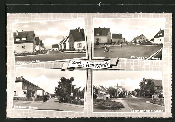 AK Wörrstadt, Danziger Strasse, Königsberger Strasse, Breslauer Strasse, Rommersheimer Strasse