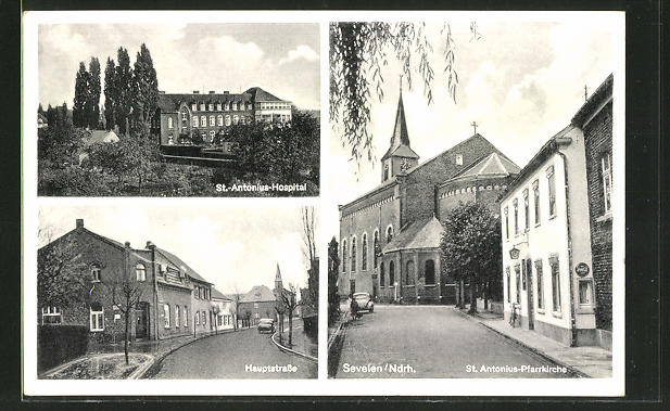 AK Sevelen, St. Antonius-Hospital, Hauptstrasse, St. Antonius-Pfarrkirche