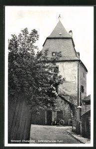 AK Simmern / Hunsrück, Schinderhannes-Turm