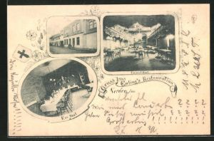 AK Verden, Euling's Gasthaus, Innen- und Aussenansichten
