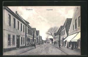 AK Diepholz, Langestrasse mit Geschäften