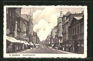 AK Mönchen Gladbach, Hindenburgstrasse mit Rhein Möbelhaus und Haus der Frau