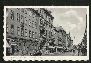 AK Göttingen, Weenderstrasse mit Hotel zur Krone