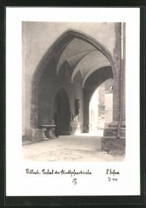 Foto-AK Adalbert Defner: Villach, Portal der Stadtpfarrkirche