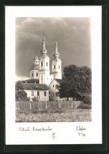 Foto-AK Adalbert Defner: Villach, Blick auf die Kreuzkirche