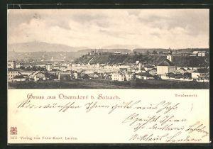 AK Oberndorf, Totalansicht mit Umgebung