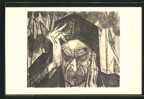 Künstler-AK Jan Toorop: Dante im Höllenfeuer