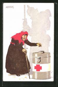 Künstler-AK Siegmund von Suchodolski: Rotes Kreuz München