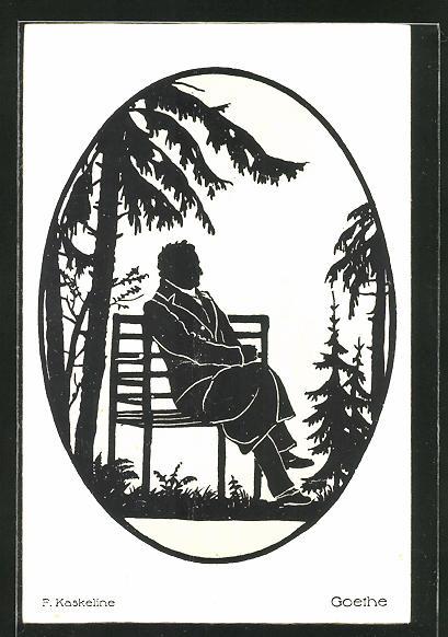 Künstler-AK Friedrich Kaskeline: Goethe, Silhouette