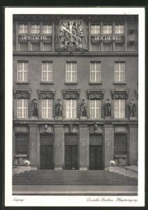 AK Leipzig, Deutsche Bücherei, Haupteingang