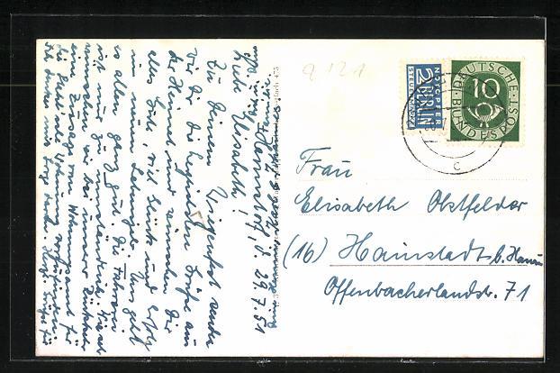 AK Dahlenburg, Schule, Heltmanns Hotel, Ortspartie, Kirche 1